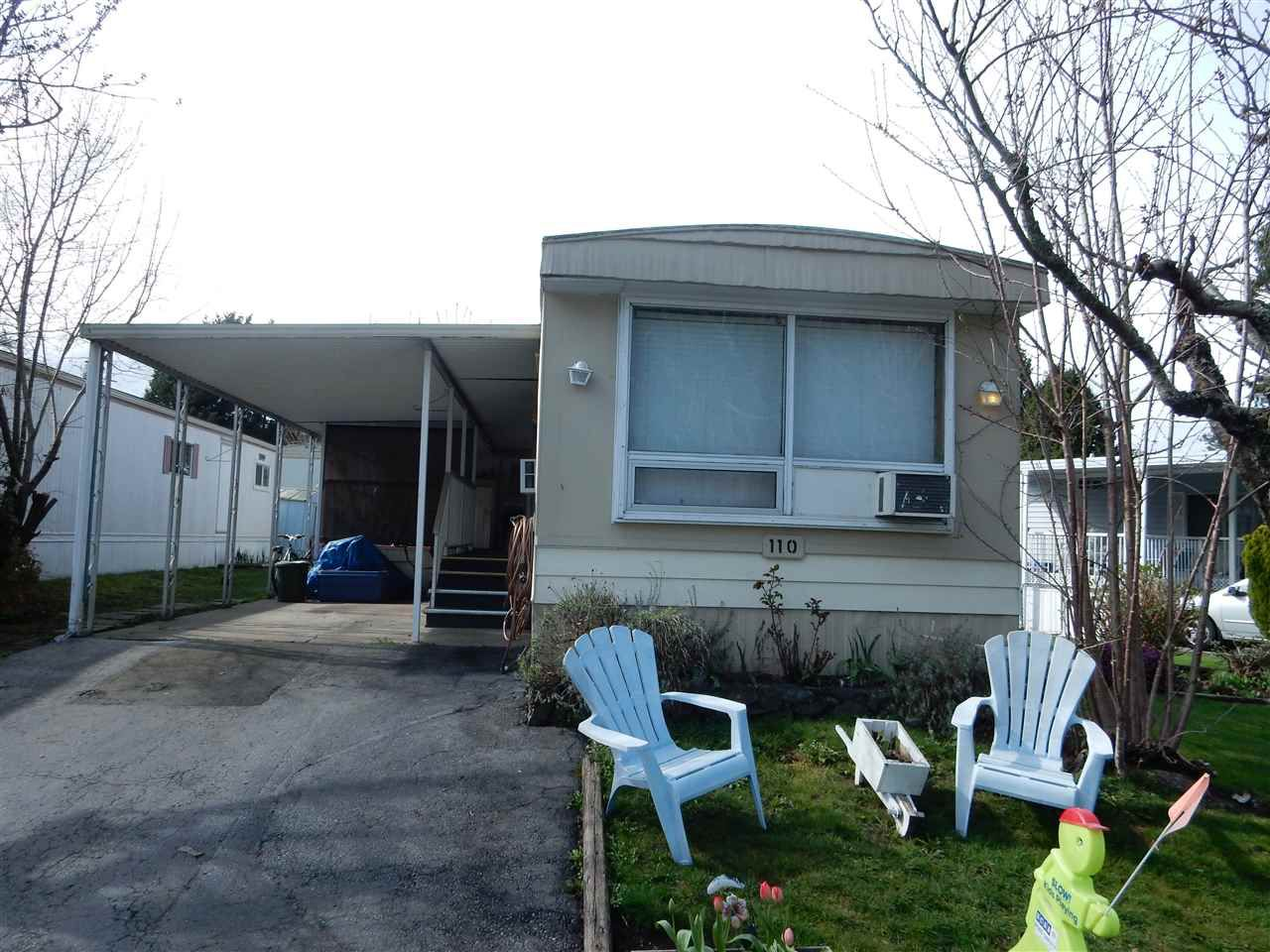"Main Photo: 110 7790 KING GEORGE Boulevard in Surrey: East Newton Manufactured Home for sale in ""CRISPEN BAY"" : MLS®# R2049153"