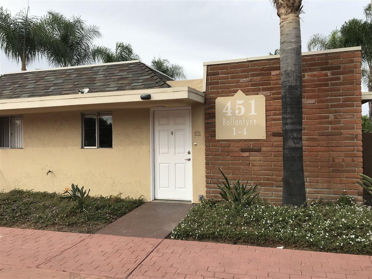 Main Photo: EL CAJON Condo for sale : 1 bedrooms : 451 Ballantyne St #4