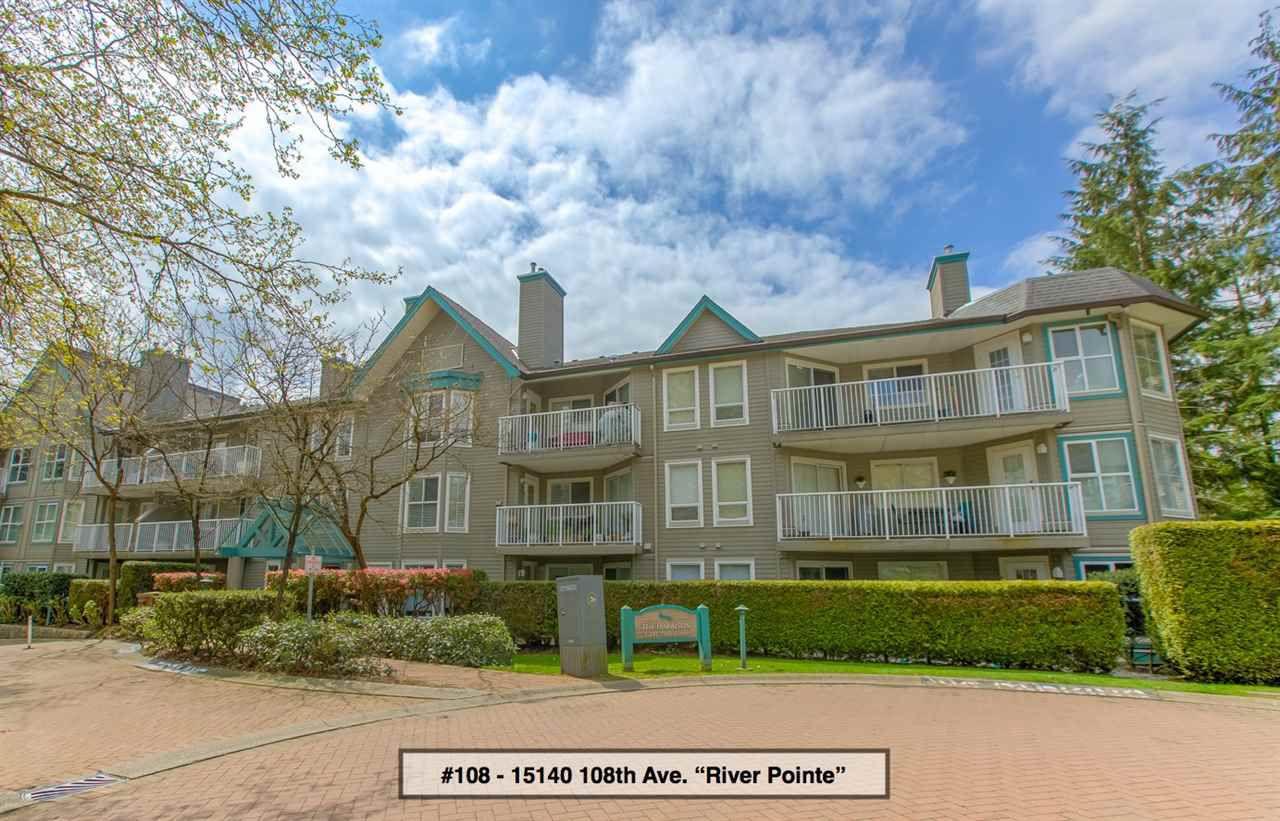 "Main Photo: 108 15140 108 Avenue in Surrey: Bolivar Heights Condo for sale in ""River Pointe ""The Harrison"""" (North Surrey)  : MLS®# R2265411"