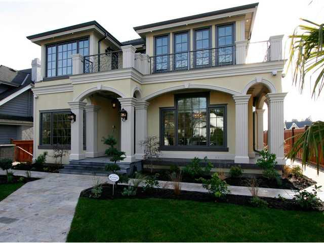 Exterior Front: Beautiful top Quality home on large corner lot 55 x 132.36 = 7280 SF