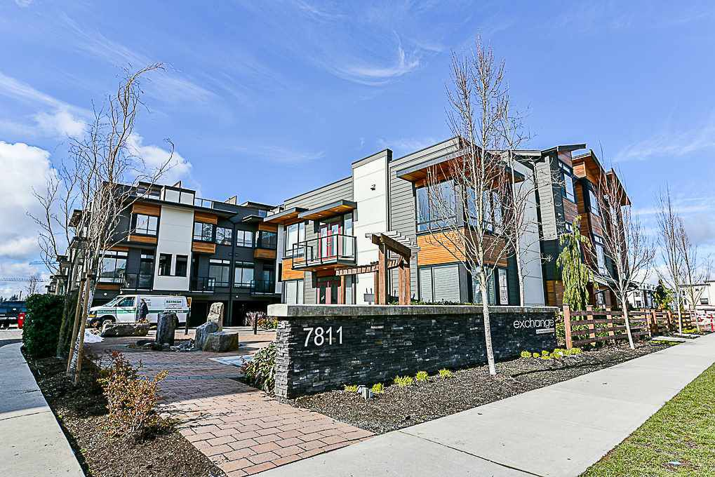 "Main Photo: 43 7811 209 Street in Langley: Willoughby Heights Townhouse for sale in ""EXCHANGE"" : MLS®# R2329086"