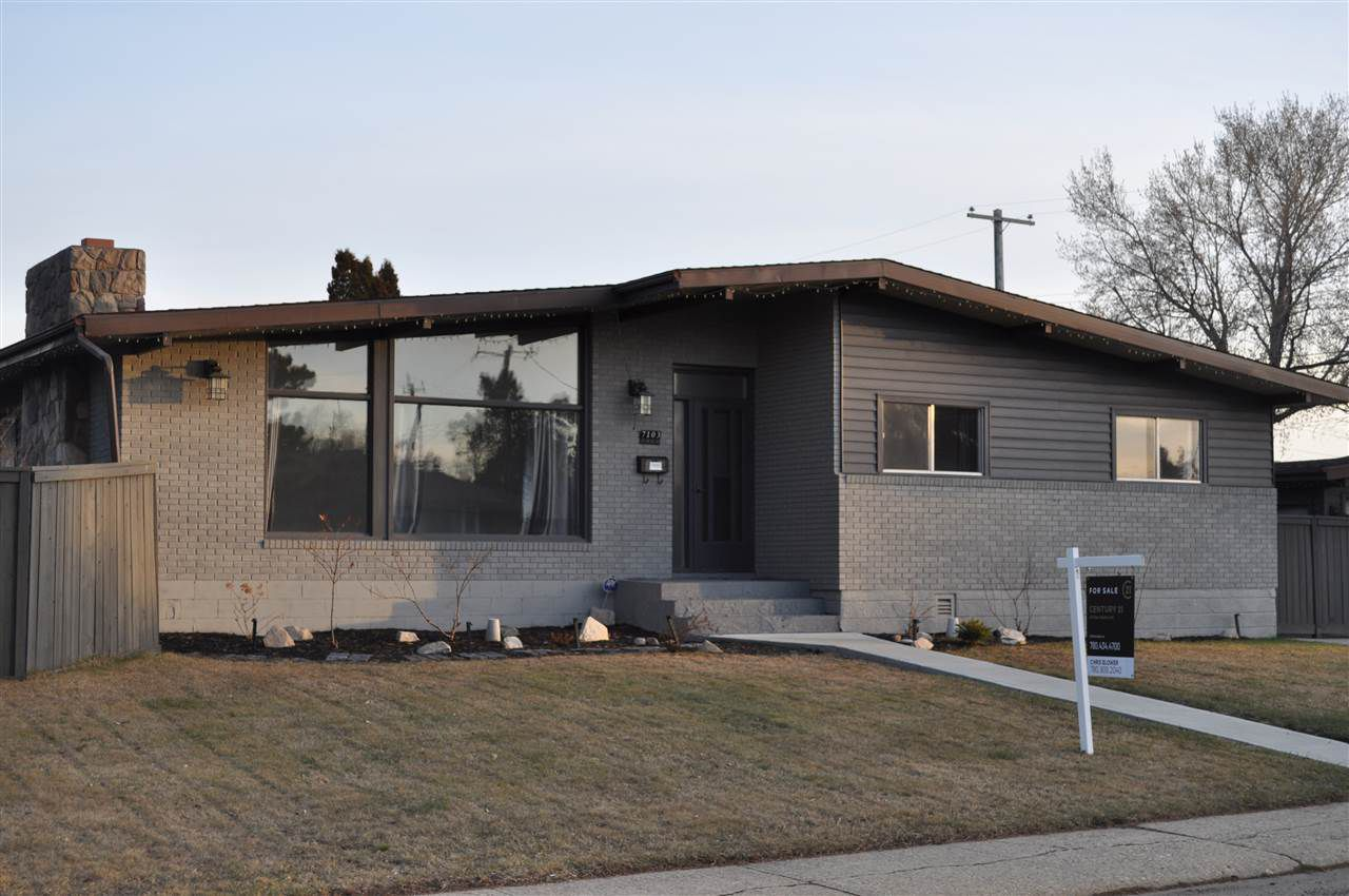 At 1448 square feet, this open beam Ottewell bungalow lives large.  Renovated kitchen, hardwood flooring, heated oversized garage, fenced yard with a hot tub, 5 bedrooms, next to a park.  Quite a package
