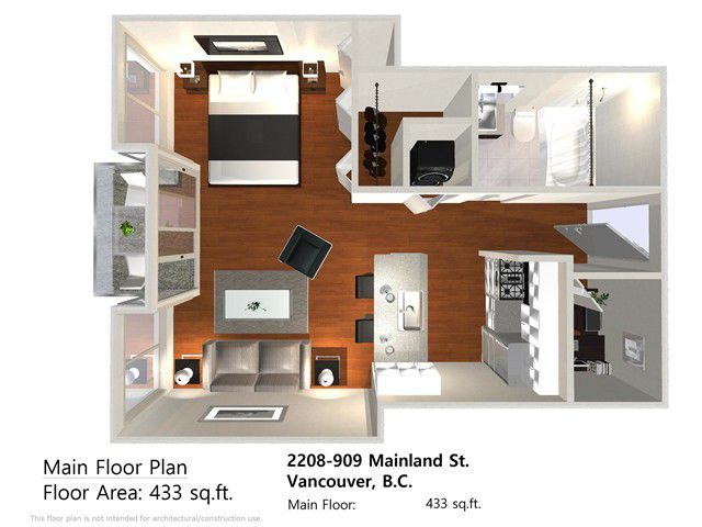 """Main Photo: 2208 909 MAINLAND Street in Vancouver: Yaletown Condo for sale in """"YALETOWN PARK"""" (Vancouver West)  : MLS®# V1038320"""