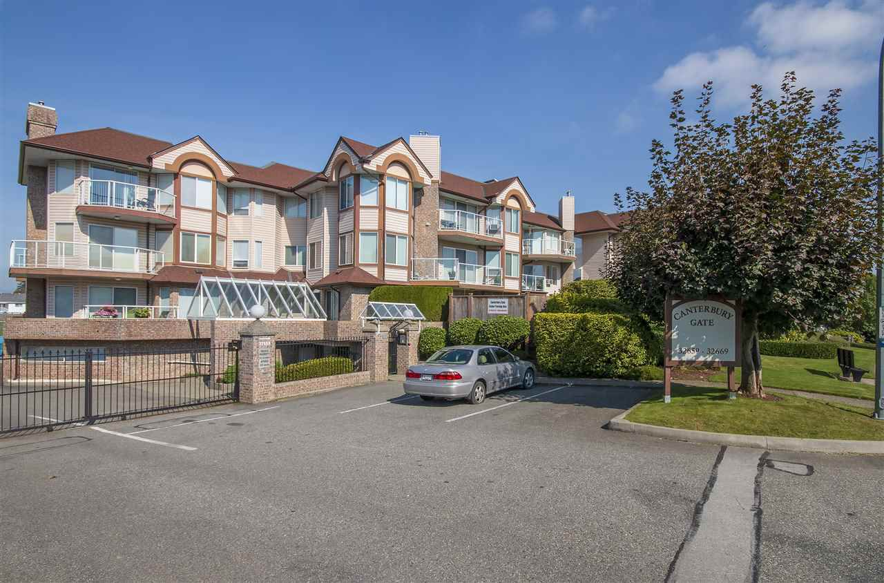 """Main Photo: 107 32669 GEORGE FERGUSON Way in Abbotsford: Abbotsford West Condo for sale in """"CANTERBURY GATE"""" : MLS®# R2310286"""