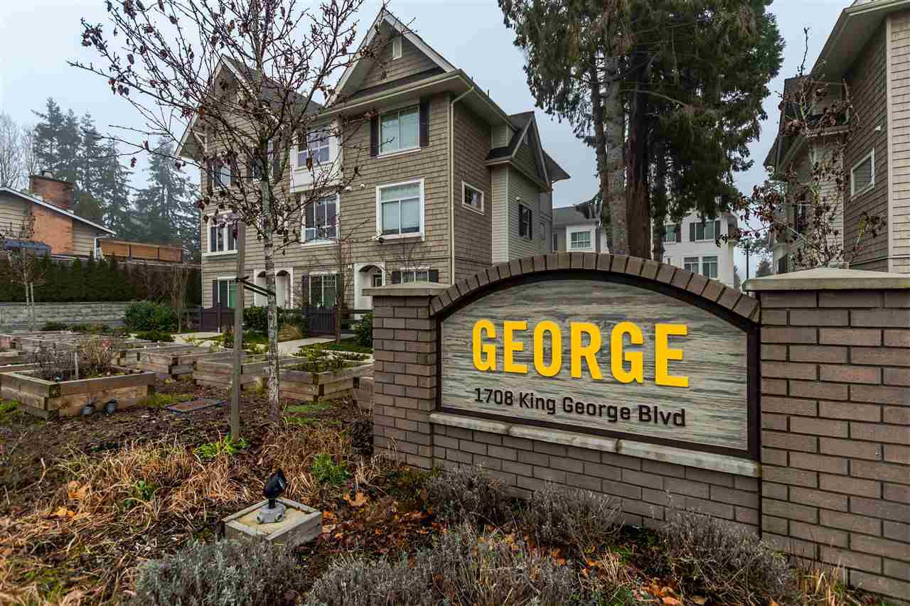 "Main Photo: 16 1708 KING GEORGE Boulevard in Surrey: King George Corridor Townhouse for sale in ""George"" (South Surrey White Rock)  : MLS®# R2229813"