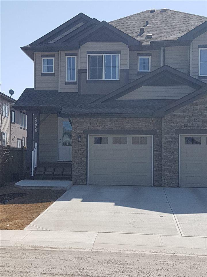 Main Photo: 2209 22 Avenue in Edmonton: Zone 30 House Half Duplex for sale : MLS®# E4107646