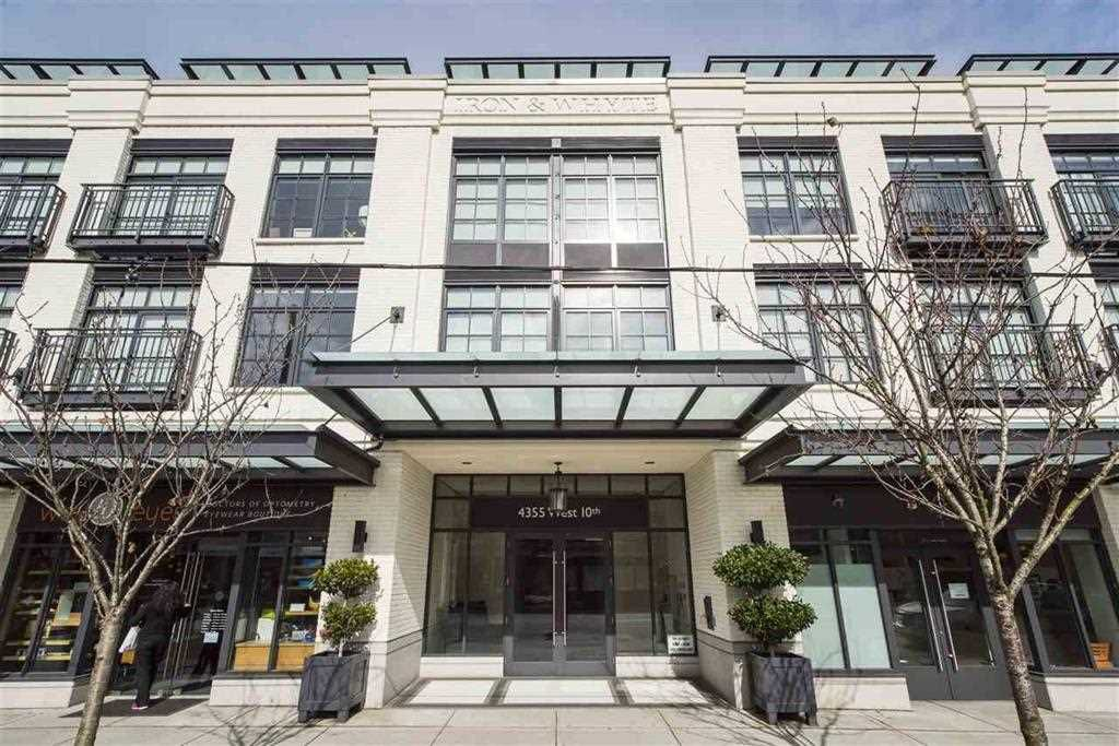 """Main Photo: 205 4355 W 10TH Avenue in Vancouver: Point Grey Condo for sale in """"IRON & WHYTE"""" (Vancouver West)  : MLS®# R2355058"""