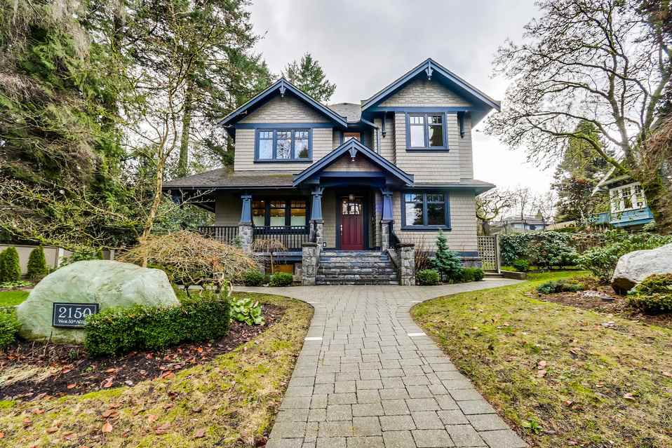 Main Photo: 2150 W 35TH Avenue in Vancouver: Quilchena House for sale (Vancouver West)  : MLS®# R2030803