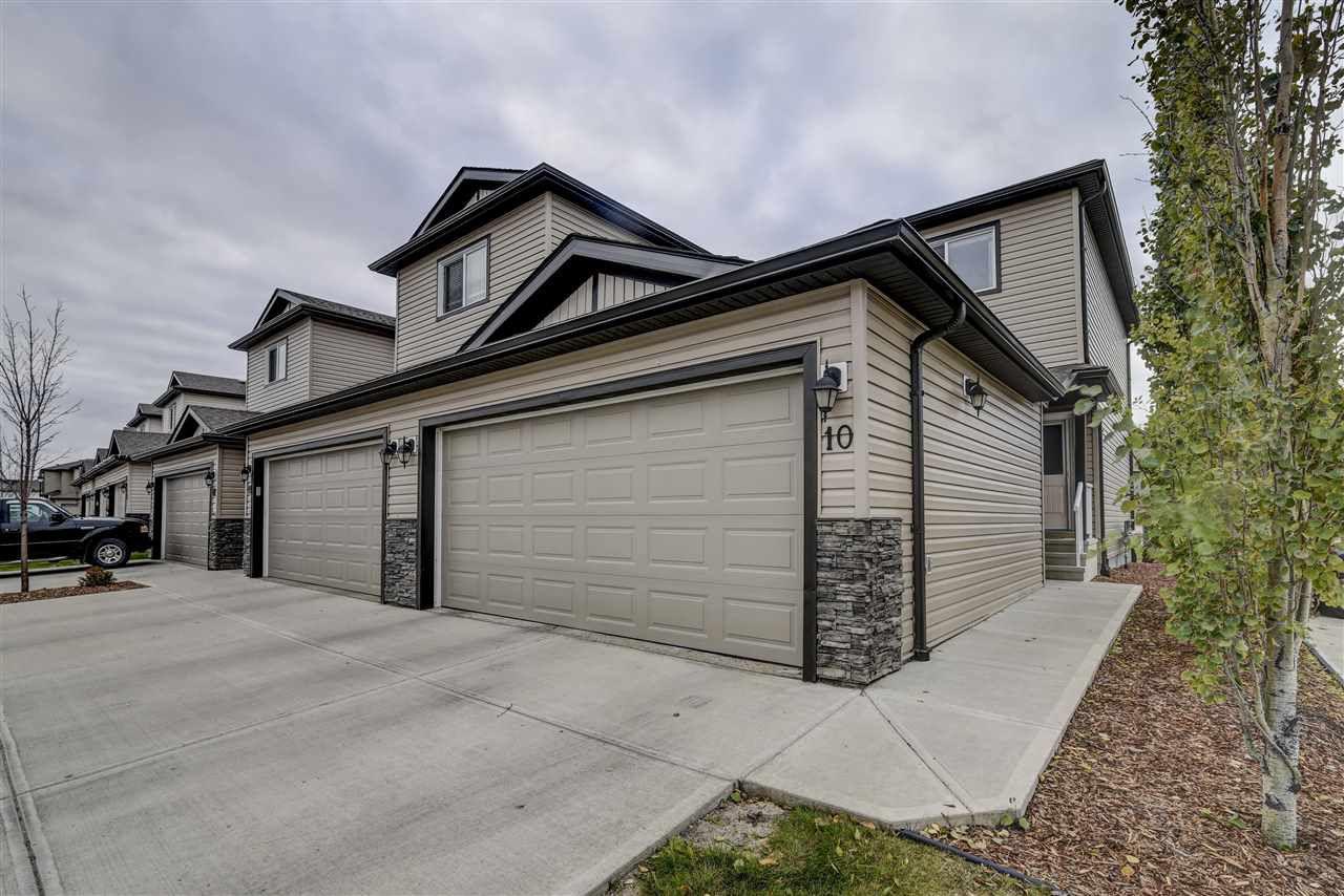 Main Photo: 10 445 BRITNELL Boulevard in Edmonton: Zone 03 House Half Duplex for sale : MLS®# E4131630