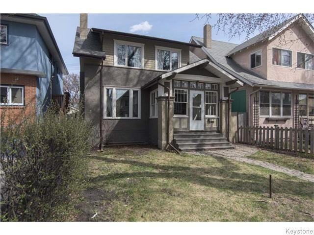 Main Photo: 595 Sherburn Street in Winnipeg: West End / Wolseley Residential for sale (West Winnipeg)  : MLS®# 1610978