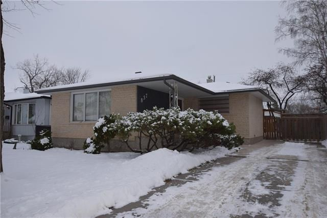 Main Photo: 837 Parkdale Street in Winnipeg: Crestview Residential for sale (5H)  : MLS®# 1831209