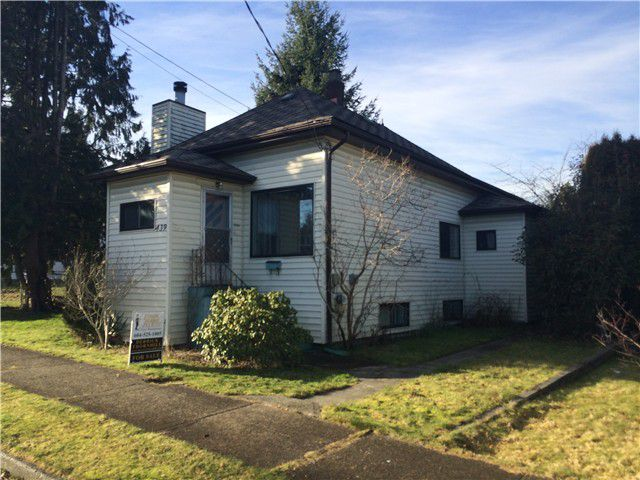 Main Photo: 439 ELMER Street in New Westminster: The Heights NW House for sale : MLS®# V1101402