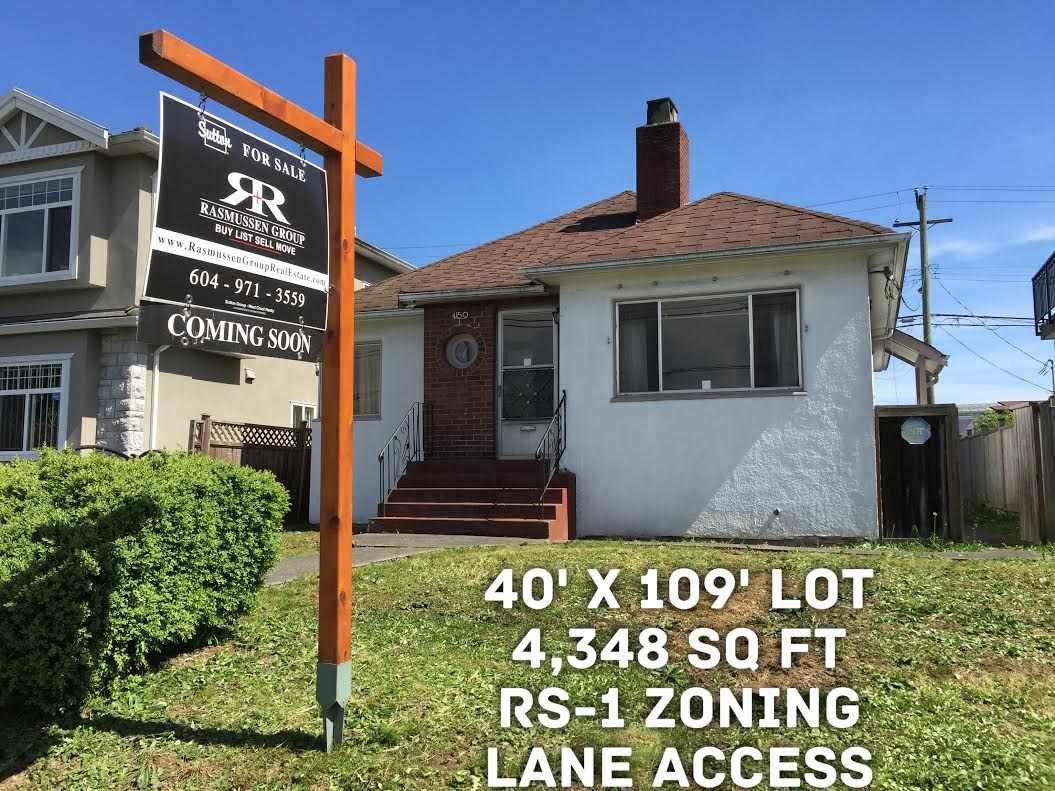 """Main Photo: 4150 VICTORIA Drive in Vancouver: Victoria VE House for sale in """"VICTORIA"""" (Vancouver East)  : MLS®# R2059189"""