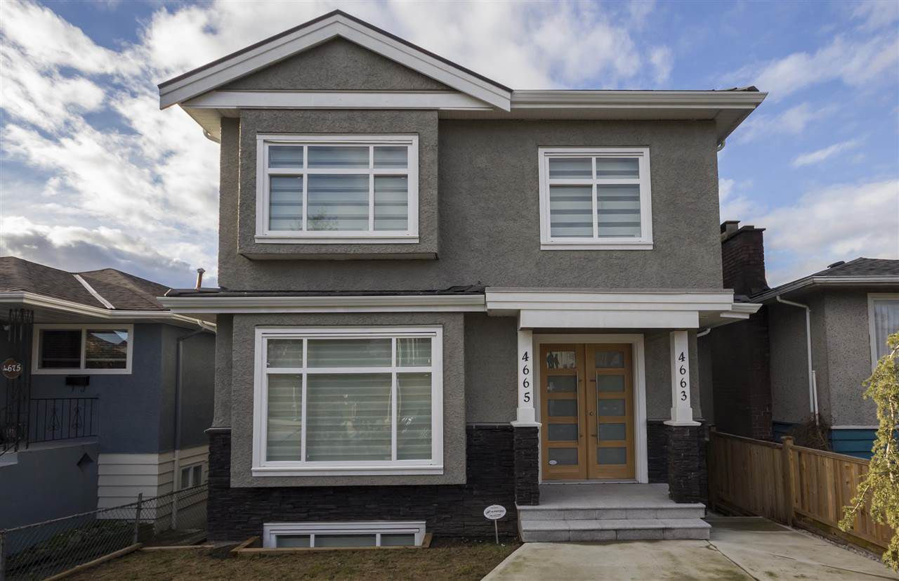 Main Photo: 4665 RUPERT Street in Vancouver: Collingwood VE House for sale (Vancouver East)  : MLS®# R2139740