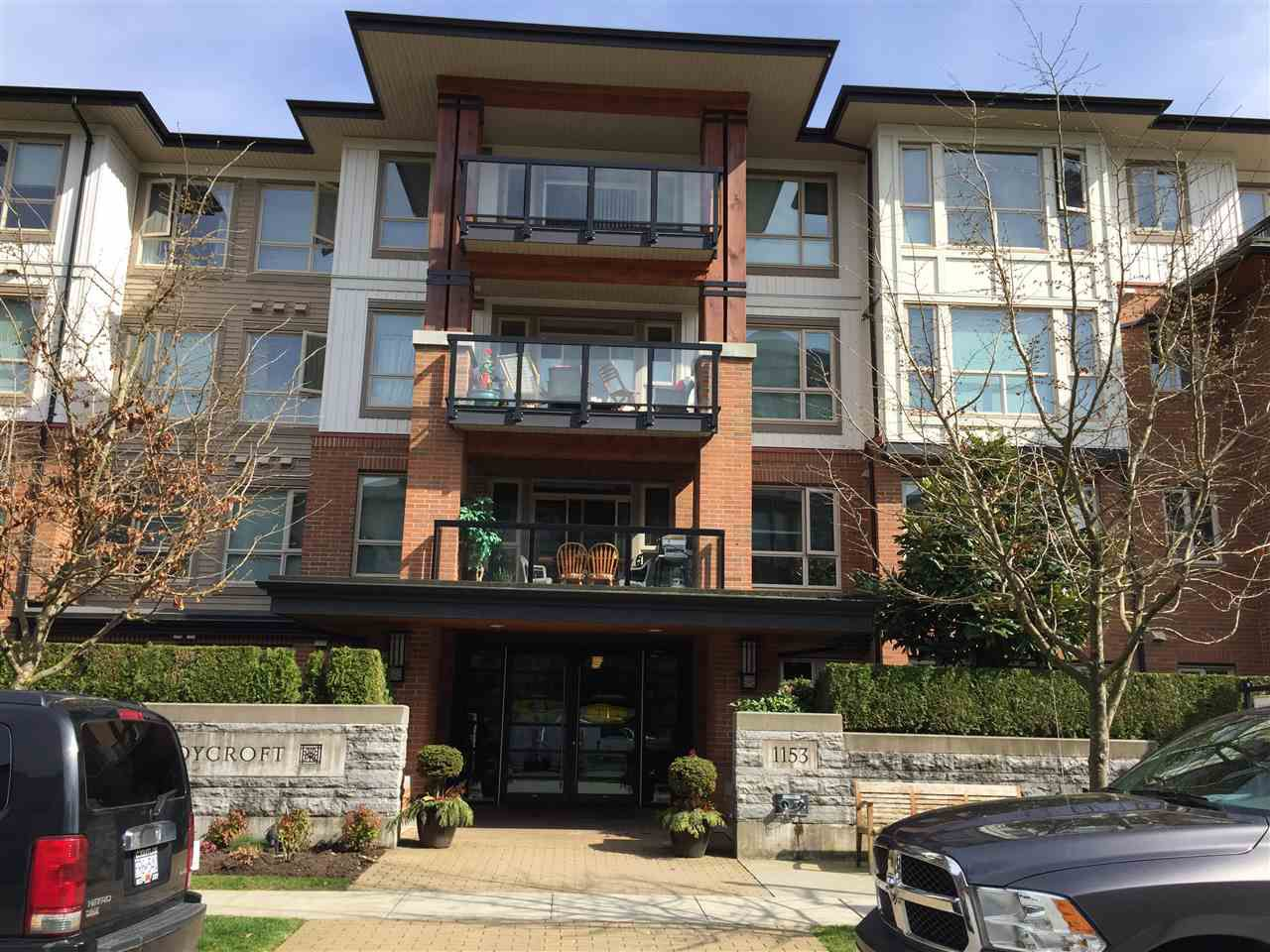"Main Photo: 110 1153 KENSAL Place in Coquitlam: New Horizons Condo for sale in ""Roycroft"" : MLS®# R2252006"