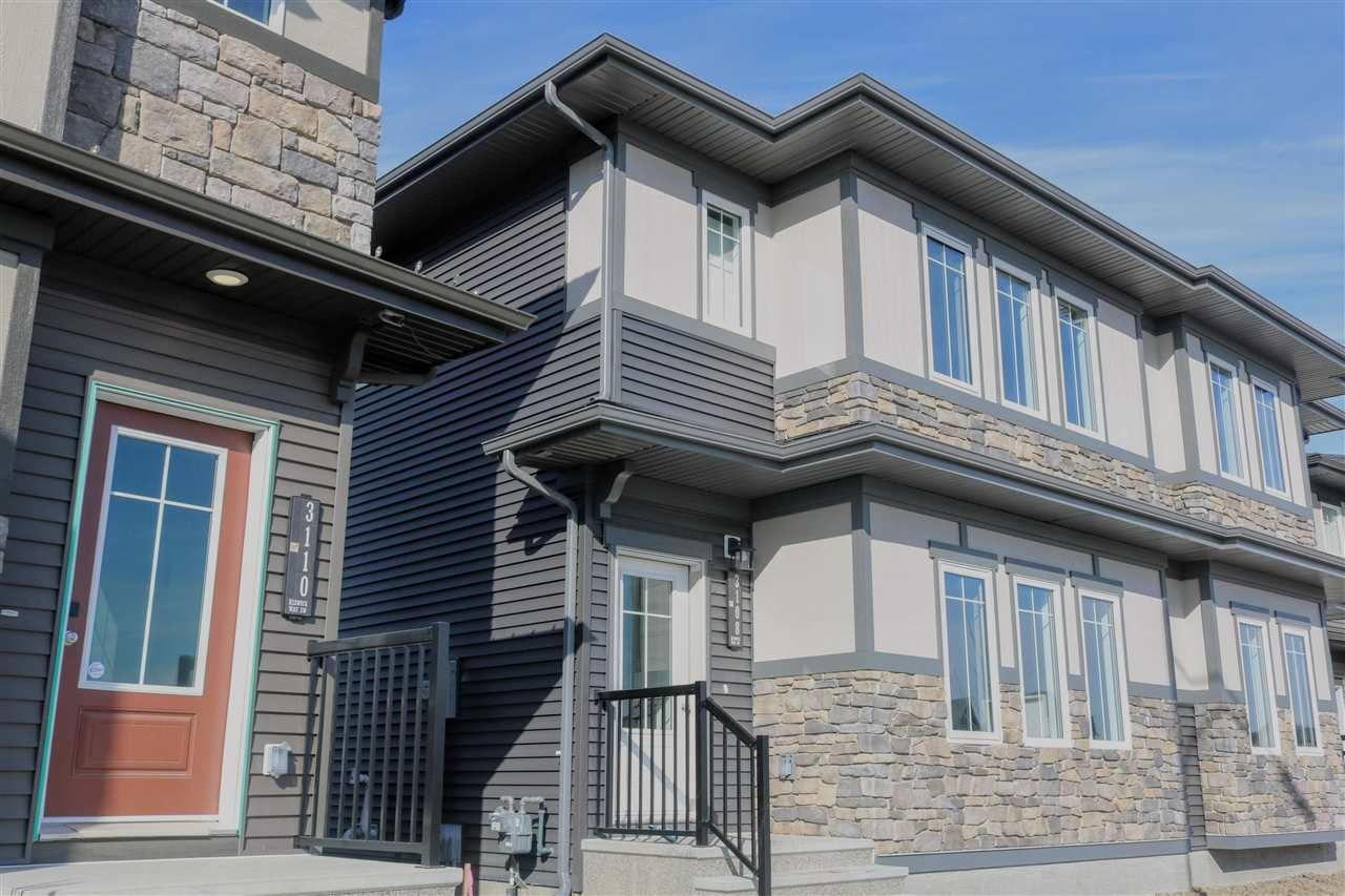 Main Photo: 3108 KESWICK Way in Edmonton: Zone 56 House Half Duplex for sale : MLS®# E4126463