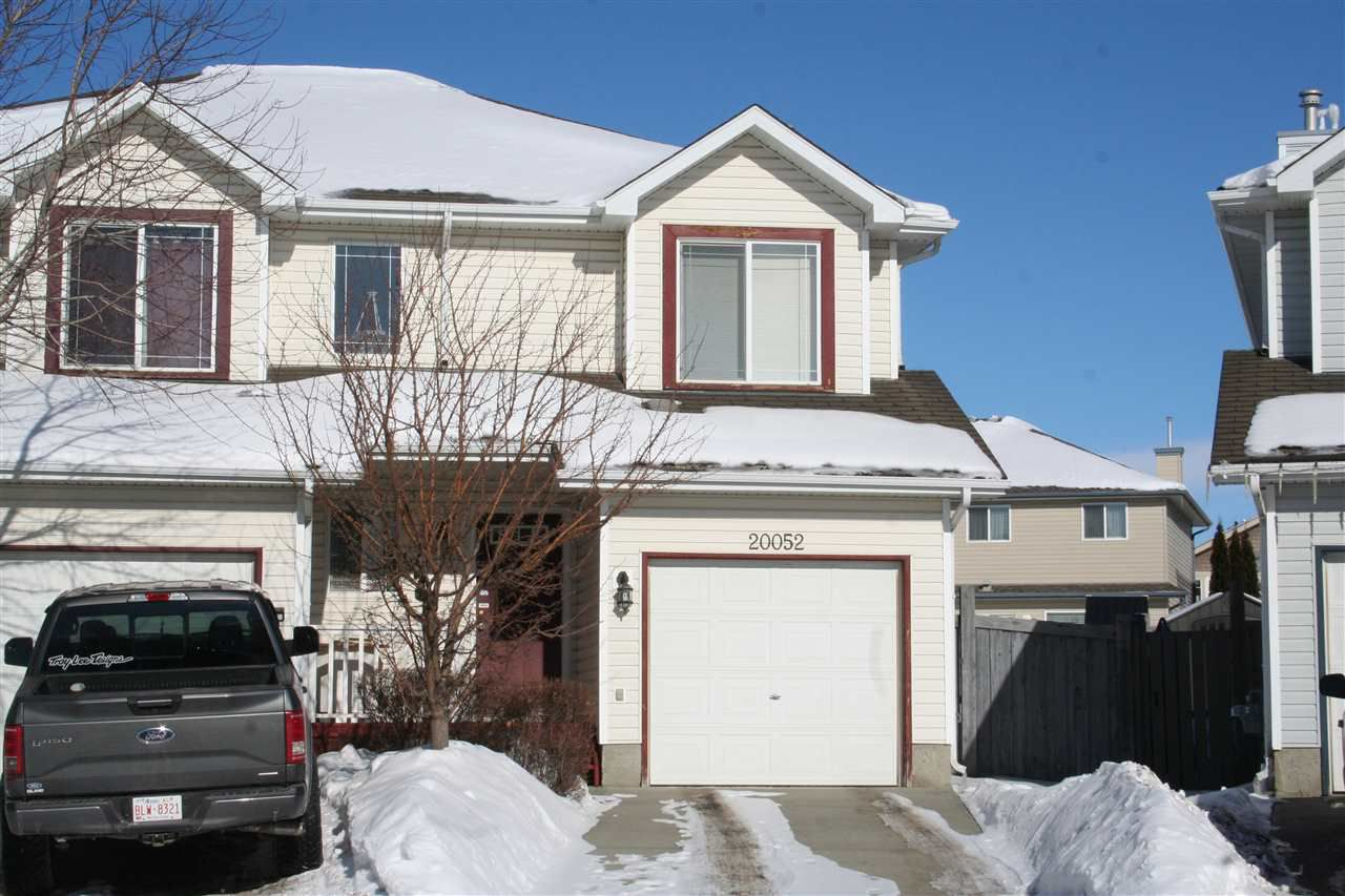 Main Photo: 20052 54A Avenue in Edmonton: Zone 58 House Half Duplex for sale : MLS®# E4145829