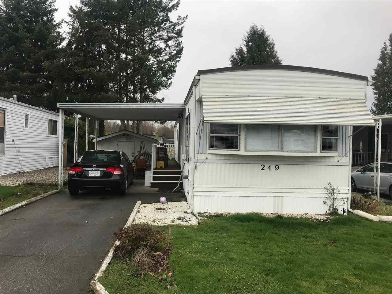 "Main Photo: 249 1840 160 Street in Surrey: King George Corridor Manufactured Home for sale in ""BREAKAWAY BAYS"" (South Surrey White Rock)  : MLS®# R2237420"