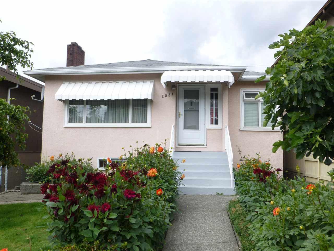Main Photo: 2551 RENFREW Street in Vancouver: Renfrew VE House for sale (Vancouver East)  : MLS®# R2092376