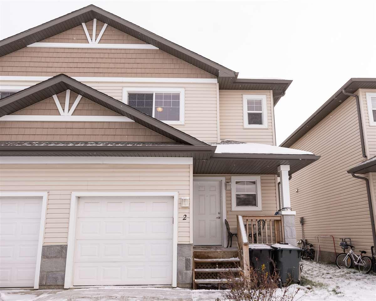 Main Photo: 2 HARTWICK Landing: Spruce Grove House Half Duplex for sale : MLS®# E4143053
