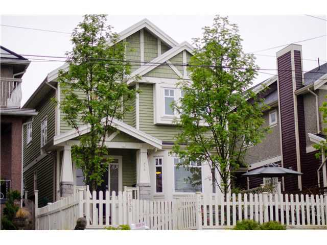 "Main Photo: 1938 ADANAC Street in Vancouver: Hastings House 1/2 Duplex for sale in ""COMMERCIAL DRIVE"" (Vancouver East)  : MLS®# V887660"