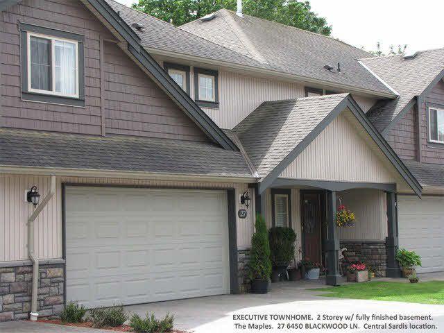 Main Photo: 27 6450 BLACKWOOD LANE in : Sardis West Vedder Rd Townhouse for sale : MLS®# H1302094