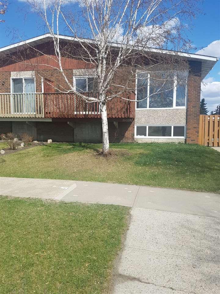 Main Photo: 16019 100 Street in Edmonton: Zone 27 House Half Duplex for sale : MLS®# E4156780