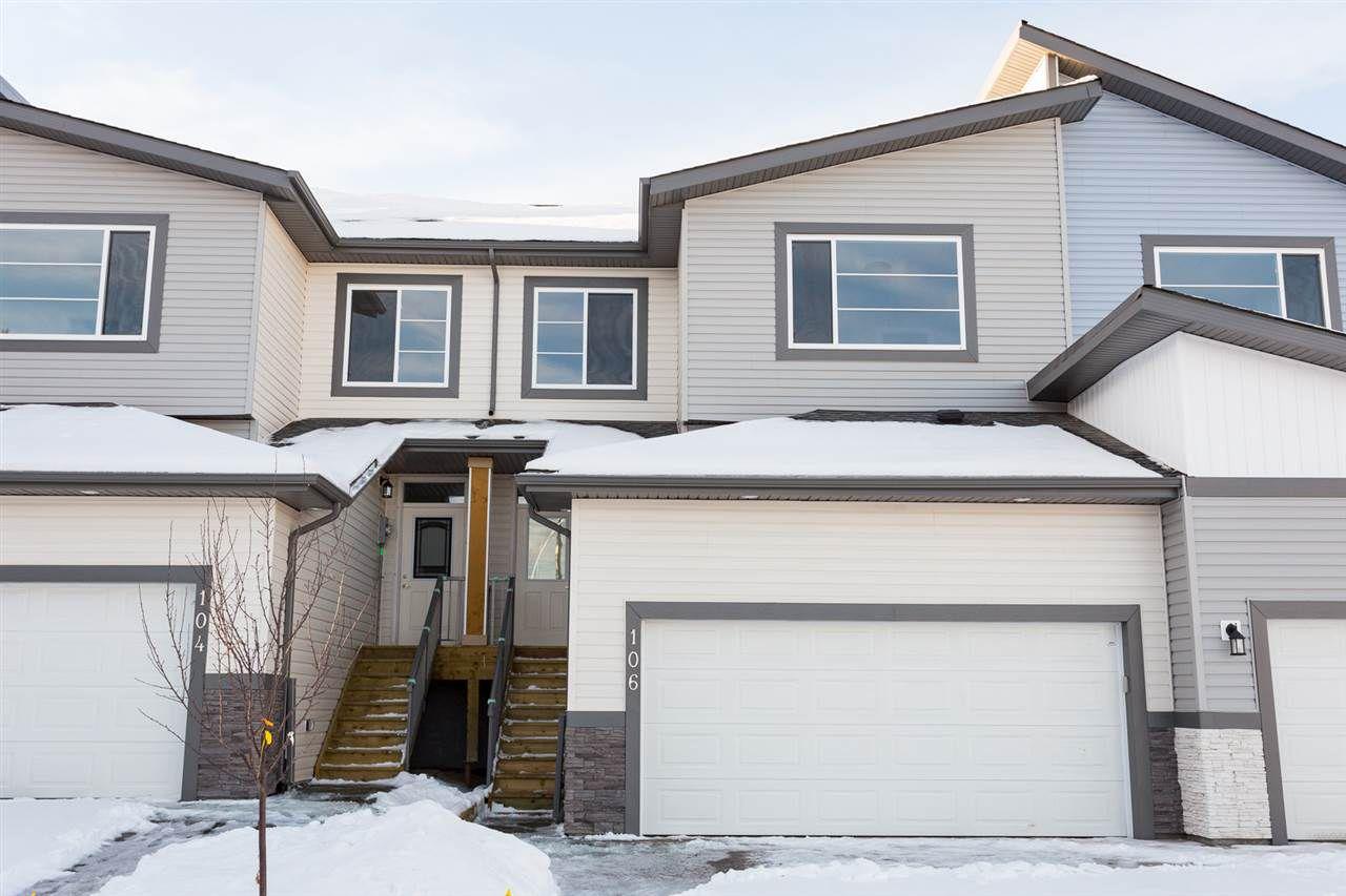 Main Photo: 106 AWENTIA Street: Leduc Attached Home for sale : MLS®# E4138231