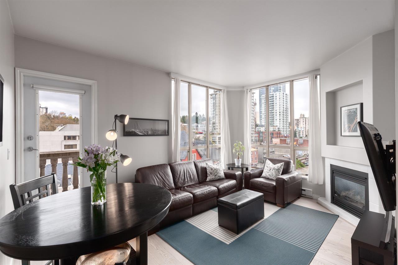 Living Room w/ floor to ceiling windows