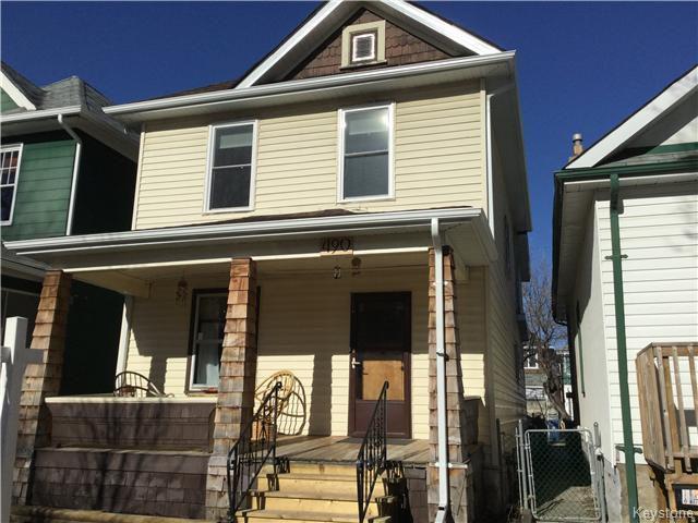 Main Photo: 490 Newman Street in Winnipeg: West End / Wolseley Residential for sale (West Winnipeg)  : MLS®# 1607671