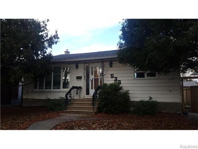 Main Photo: 533 Linden Avenue in Winnipeg: Residential for sale (3D)  : MLS®# 1626671