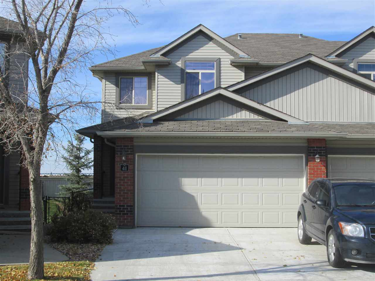 Main Photo: 41 1128 156 Street in Edmonton: Zone 14 House Half Duplex for sale : MLS®# E4131794