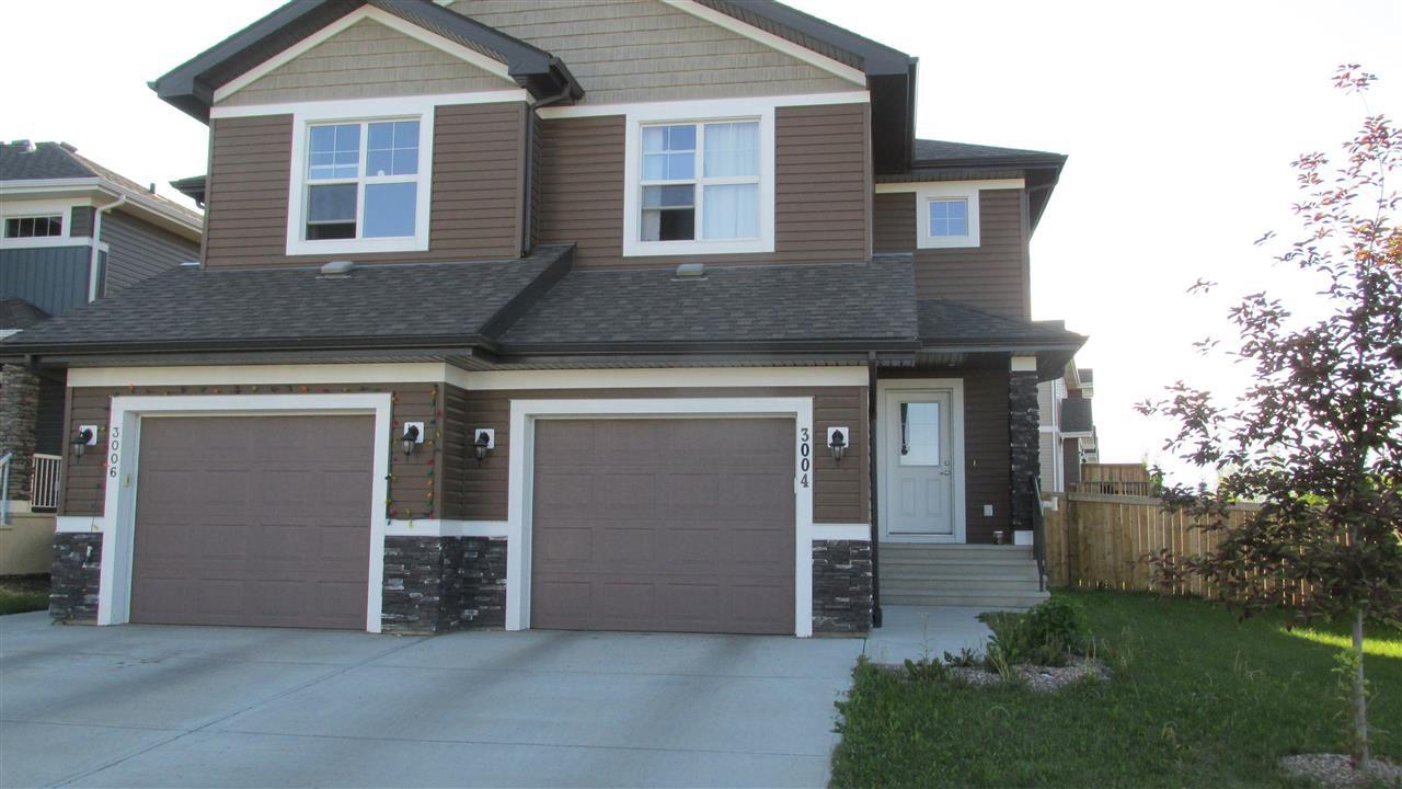 Main Photo: 3004 HARVEY Crescent in Edmonton: Zone 58 House Half Duplex for sale : MLS®# E4148670