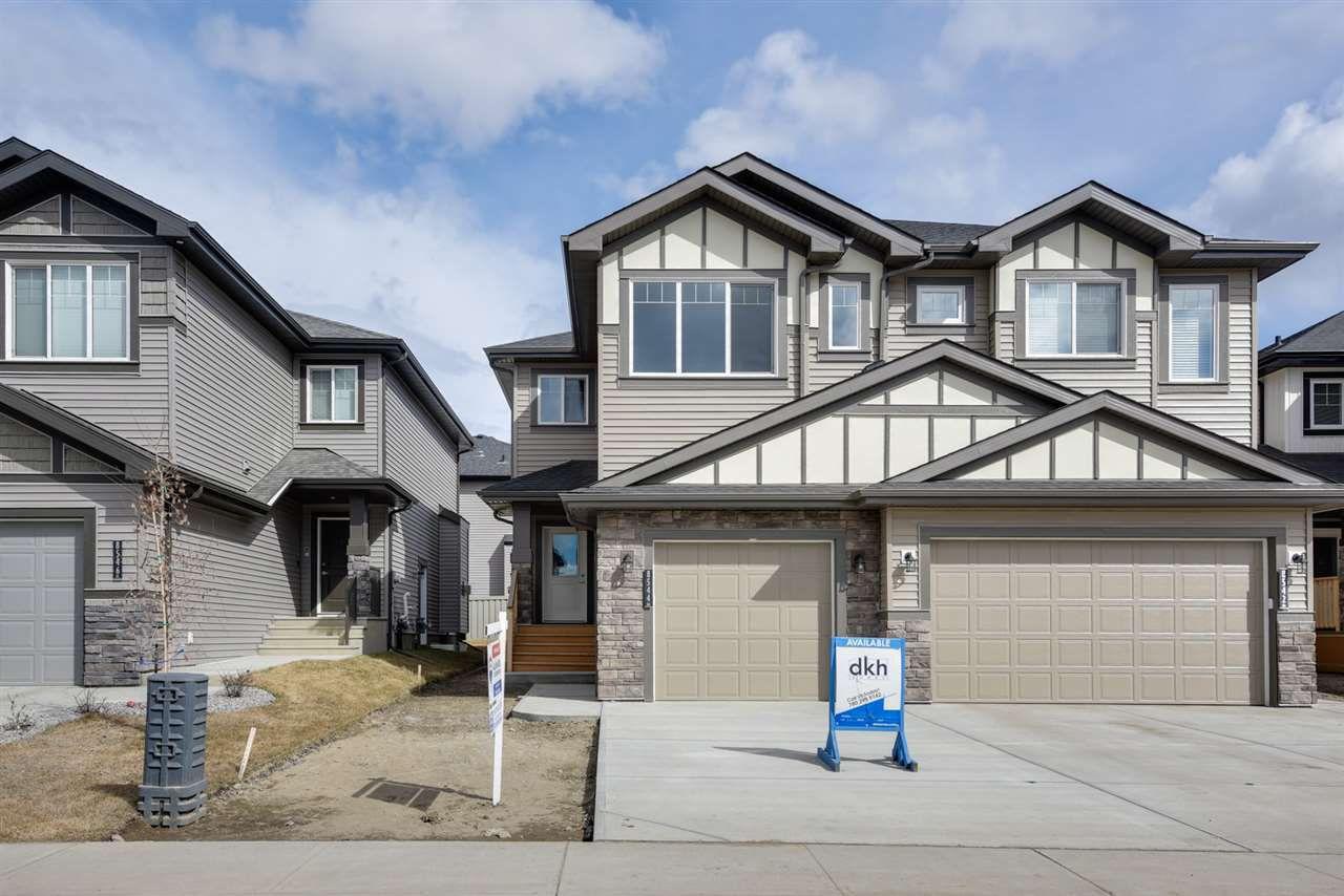 Main Photo: 8544 CUSHING Place in Edmonton: Zone 55 House Half Duplex for sale : MLS®# E4151840