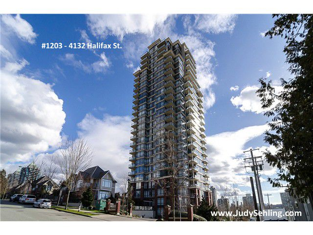"""Main Photo: 1203 4132 HALIFAX Street in Burnaby: Brentwood Park Condo for sale in """"MARQUIS GRANDE"""" (Burnaby North)  : MLS®# V1048050"""