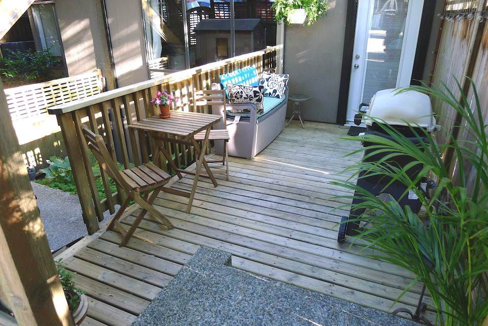 """Main Photo: 102 1943 E 1ST Avenue in Vancouver: Grandview VE Townhouse for sale in """"The Vault at Victoria Court"""" (Vancouver East)  : MLS®# R2338126"""