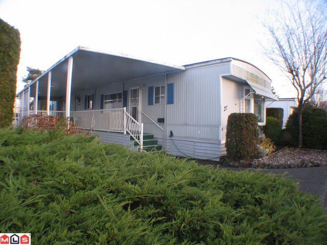 "Main Photo: 27 15875 20TH Avenue in Surrey: King George Corridor Manufactured Home for sale in ""Sea Ridge Bays"" (South Surrey White Rock)  : MLS®# F1105166"