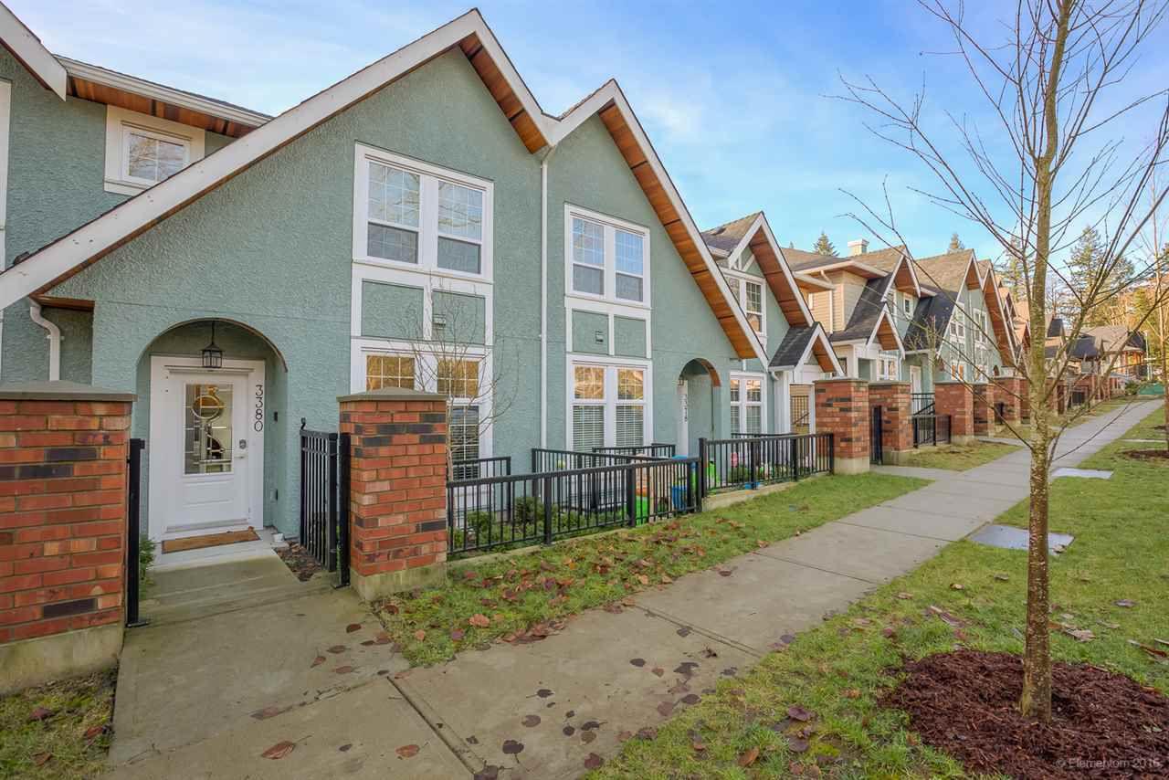 Main Photo: 3380 MASON Avenue in Coquitlam: Burke Mountain Townhouse for sale : MLS®# R2032864