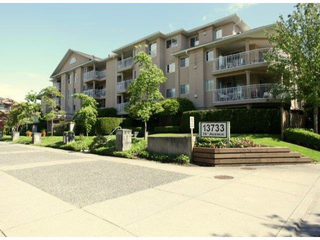 "Main Photo: 310 13733  74 AV in Surrey: East Newton Condo for sale in ""King's Court"" : MLS®# F1313212"