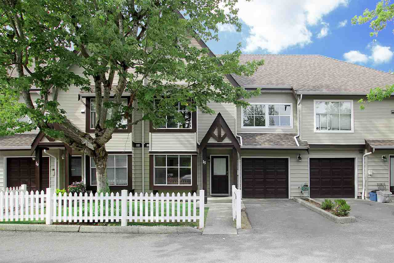 "Main Photo: 15 12099 237 Street in Maple Ridge: East Central Townhouse for sale in ""GABRIOLA"" : MLS®# R2192044"