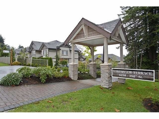 "Main Photo: 24 6238 192 Street in Surrey: Cloverdale BC Townhouse for sale in ""Bakerview Terrace"" (Cloverdale)  : MLS®# R2232209"