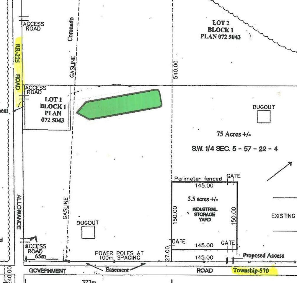 Main Photo: RR 225 Twp 570 4-22-57-5-SW: Rural Sturgeon County Rural Land/Vacant Lot for sale : MLS®# E4153736