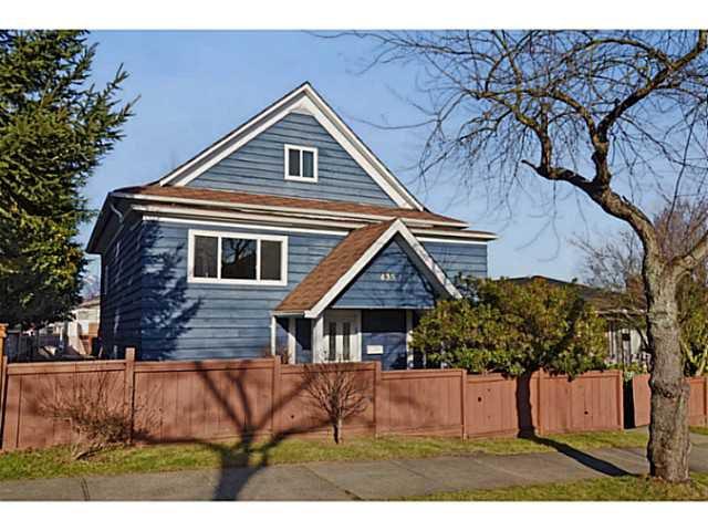 "Main Photo: 435 E 23RD Avenue in Vancouver: Fraser VE House for sale in ""MAIN STREET CORRIDOR"" (Vancouver East)  : MLS®# V1043103"