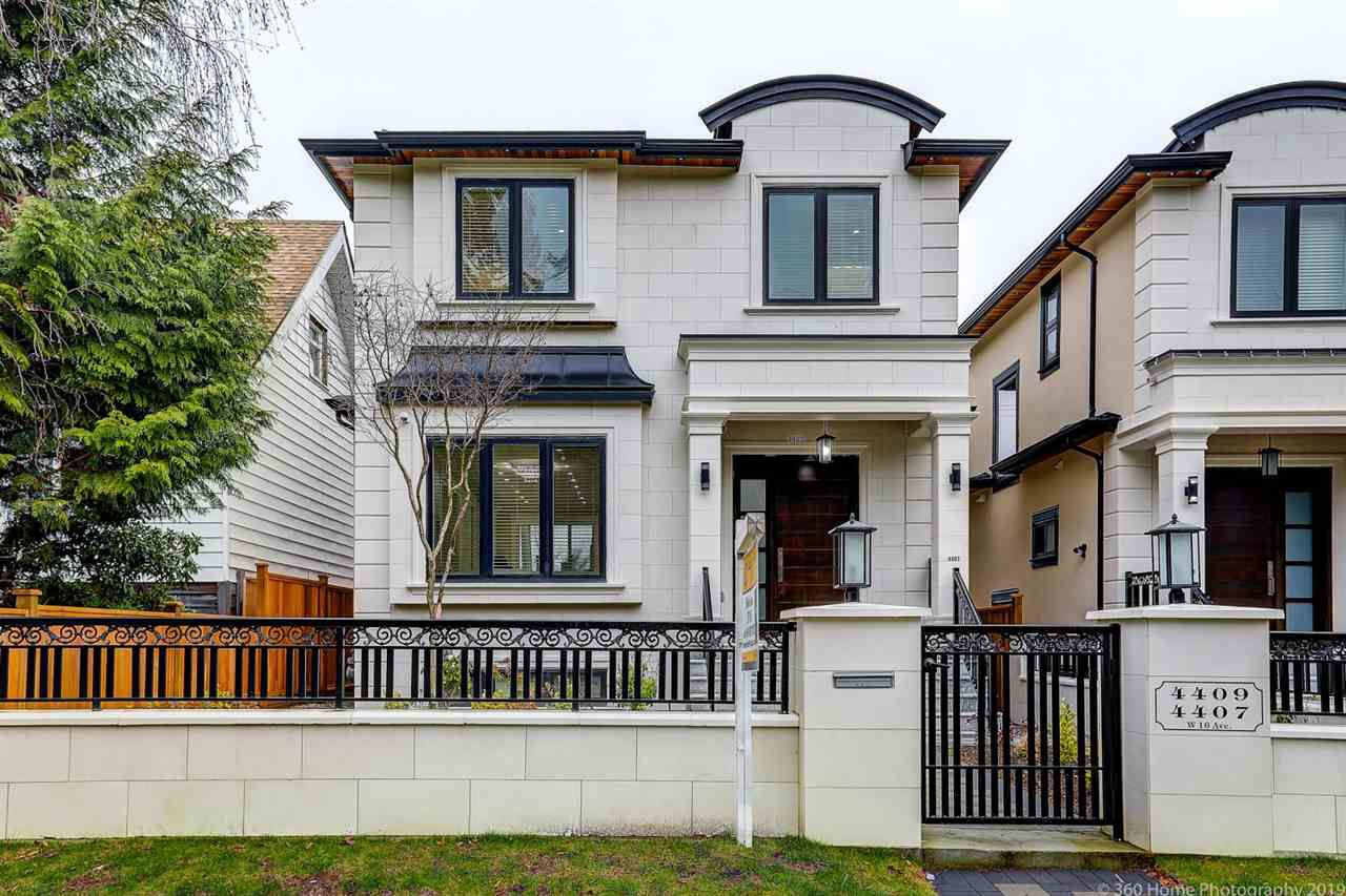 Main Photo: 4409 W 16TH Avenue in Vancouver: Point Grey House for sale (Vancouver West)  : MLS®# R2334280