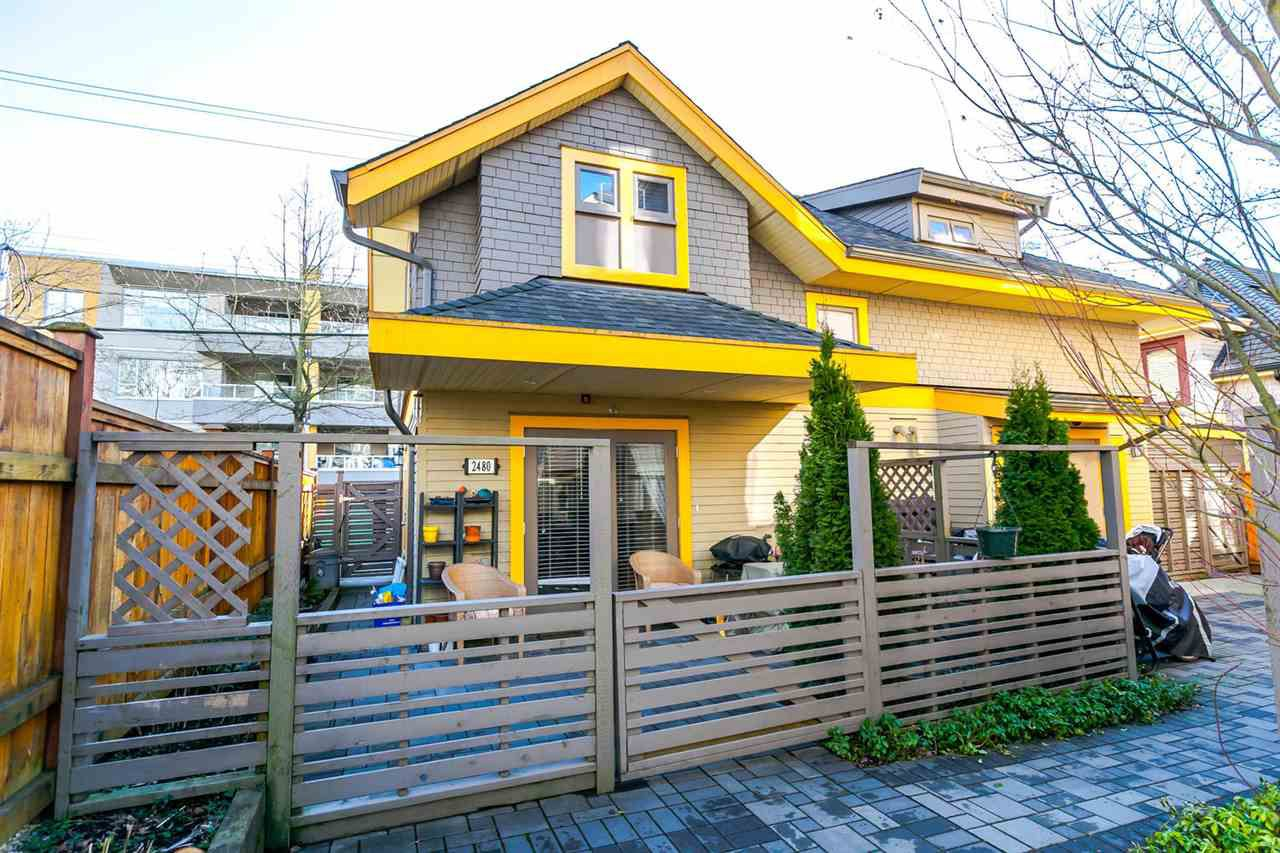 "Main Photo: 2480 W 8TH Avenue in Vancouver: Kitsilano Townhouse for sale in ""HERITAGE ON 8TH"" (Vancouver West)  : MLS®# R2142785"