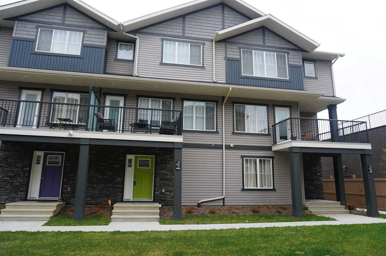 Main Photo: 57 12815 Cumberland Road in Edmonton: Zone 27 Townhouse for sale : MLS®# E4154744