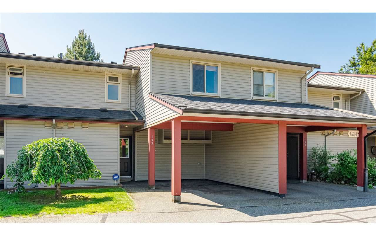 "Main Photo: 192 27456 32 Avenue in Langley: Aldergrove Langley Townhouse for sale in ""Cedar Park"" : MLS®# R2371784"
