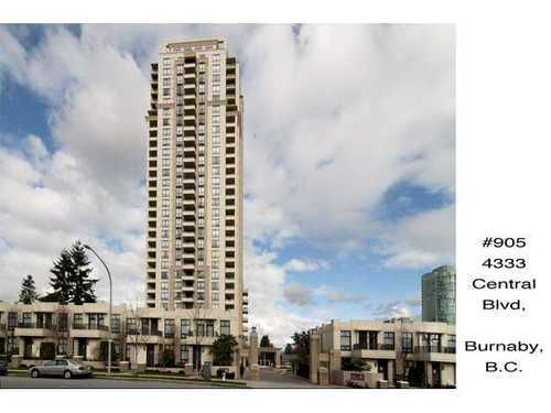 Main Photo: 905 4333 CENTRAL Blvd in Burnaby South: Metrotown Home for sale ()  : MLS®# V899970