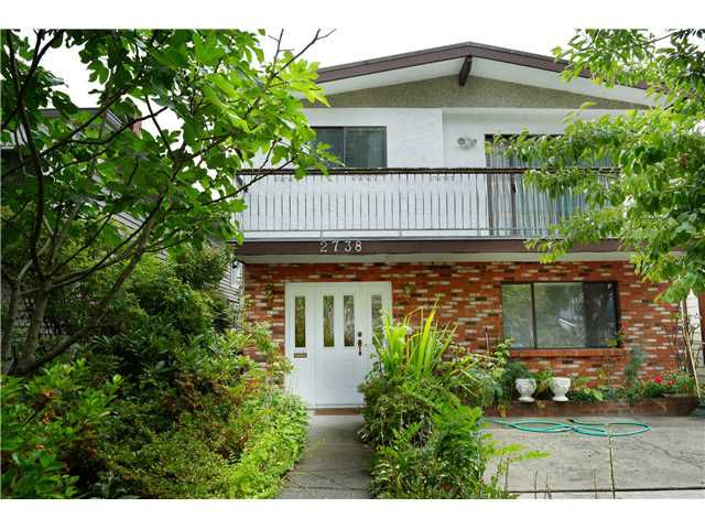 Main Photo: 2738 E 27TH Avenue in Vancouver: Renfrew Heights House for sale (Vancouver East)  : MLS®# V1133910