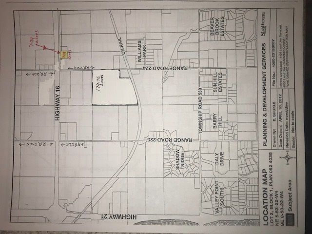 Main Photo: 22367 Hwy 16: Rural Strathcona County Rural Land/Vacant Lot for sale : MLS®# E4090215